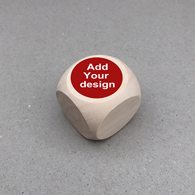 custom wooden dice wholesale